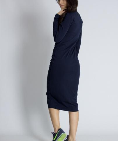 Платье синее в обтяжку