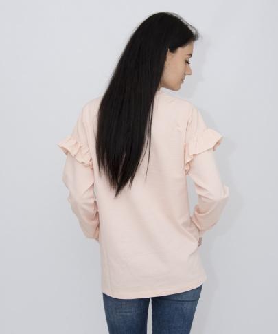 Кофта нежно-розовая