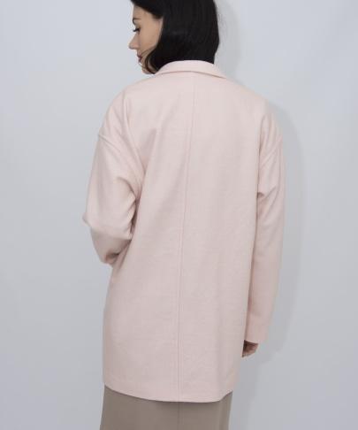 Пальто нежно-розовое