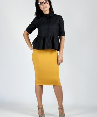 Блуза с рюшкой