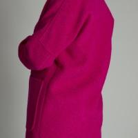 Пальто малиновое