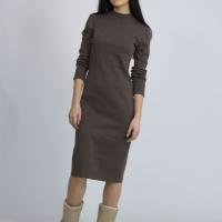 Платье из утепленного трикотажа